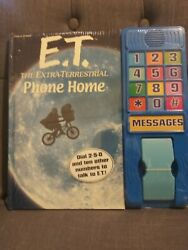 NEW Vintage style E.T. The Extra-Terrestrial Phone Home Book w Phone