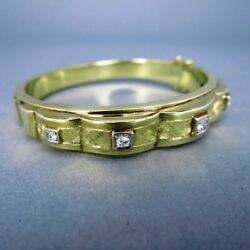 It's Nice Gearbeiteter 585 Gold Ladies Bracelet with High-Quality Brilliant