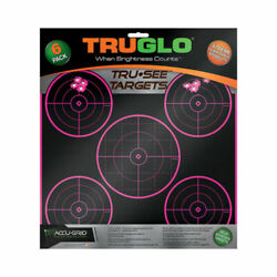 Truglo 12quot;X12quot; Target 5 Bull 6 Pack Pink Finish TG11P6 $12.90