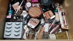 ✦✦100 PIECE NAME BRAND COSMETICS MAKEUP LOT ✦✦ CLEAN ✦✦ MAYBELLINE REVLON etc