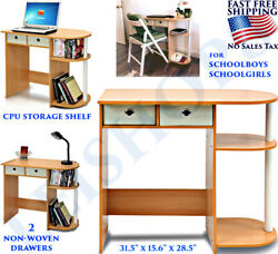 SMALL DESK FURNITURE FOR STUDENTS KIDS COMPUTER APARTMENT COLLEGE DORM BEDROOM $69.58