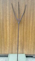 Antique Wooden Hay Fork Pitchfork 73quot; Primitive Folk Farm Tool Country Decor $95.00