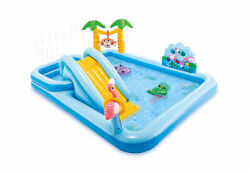 Intex Inflatable Kids Jungle Adventure Play Center Swimming Pool 57161EP