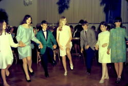 Vintage MID-CENTURY Color Negative 1960s Pretty Girls COUNTRY CLUB DANCE