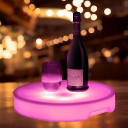 Changing LED Light Up Bottle Service Delivery Party Serving Tray Rechargeable
