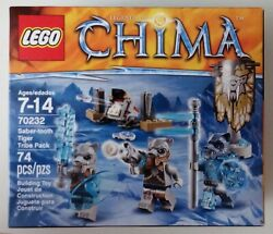 NEW & SEALED! Lego CHIMA 70232 SABER-TOOTH TIGER TRIBE PACK Rare & Retired LAST1