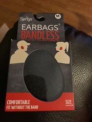 SPRIGS Earbags Bandless Thinsulate Ear Warmers Earmuffs Grey Gray Medium New