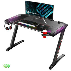 Eureka Ergonomic® Z2 PC Gaming Desk with LED Lights Cup Holder  $229.99