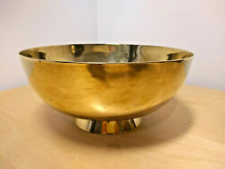 Antique PEERAGE Solid Brass Bowl Made in England Height 9 cm Diameter 20 cm $26.25
