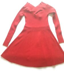 Candies Sweater Dress Long Sleeve Red Christmas Party Juniors Size L $10.00