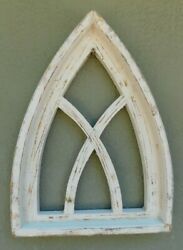 Wooden Antique Style Church WINDOW Frame Primitive Wood Gothic 17 12