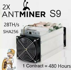 Bitcoin Mining contract 480Hr 28THs - 2X Antminer s9 - SHA256 - 10 Days