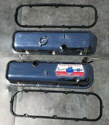 CHROME BBC VALVE COVERS & GASKETS 396 427 454 BIG BLOCK CHEVY OE STYLE CORVETTE