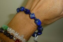 Lapis Lazuli Beaded Bracelet Pakistan 16 gram Reiki Throat Chakra Crystal