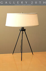 SUPERB! MID CENTURY DANISH MODERN TRIPOD LAMP! ATOMIC DESK VTG 50'S LIGHT 60'S