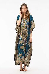 Long Kaftan dress Hippy Boho Maxi Plus Size Women Caftan Tunic Dress Night Gown $9.99