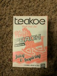 Teakoe Craft Iced Front Porch Peach Made in USA 8 lg Bags 32 servings