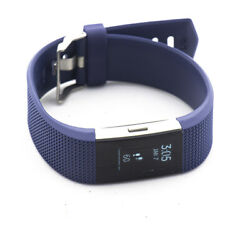Fitbit Charge 2 Heart Rate Activity Tracker Wristband Large Blue