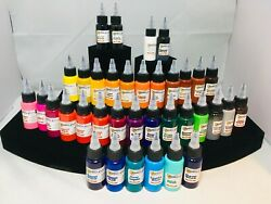 Starbrite Tattoo Ink Black Outlining White All Colors Red Blue Teal Made In USA $7.99