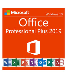 Office 2019 Professional Plus Genuine License for Windows 10 -  PC  Laptop