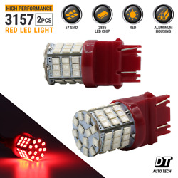 3157 Red LED Brake Stop Parking Tail Light Bulbs Ford F-150  Mustang $9.89