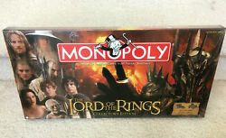 NEW Lord Of The Rings  Collector's Edition - Monopoly Board Game sealed LOTR