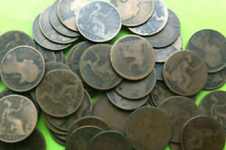 40 Mostly Diff. Young Victoria Large Pennies Sharp Dates 1860s 70s 80s early 90s