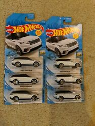 2019 Hot Wheels Range Rover Velar Kroger exclusive white HTF lot of 6!