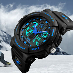 Men#x27;s Date Quartz Military Shock Digital Tactical Sport Fashion Wrist Watch US $16.78