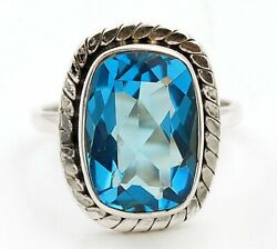 Top Quality 6CT Tanzanite 925 Solid Genuine Sterling Silver Ring Jewelry Sz 6