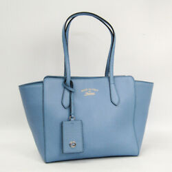 Gucci Gucci Swing 354408 Women's Leather Tote Bag Light Blue BF504154