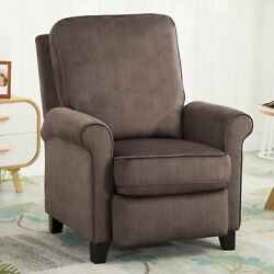 Modern Push Back Recliner Chair Reclining Padded Seat Armchair Single Sofa 34