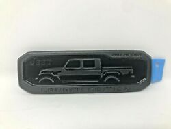 2020 Jeep Gladiator Lower Right Tailgate Launch Edition Nameplate Emblem Mopar