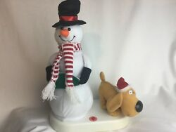 Christmas Novelty Animated Yellow Snowman Peeing Dog 13quot; Rare Hilarious *VIDEO* $69.99