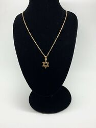 925 Sterling Silver Star Of David Gold Pendant Sterling Necklace. $18.00