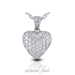 4.82ctw E VS2 Round Brilliant Earth Mined Certified Diamonds White Gold Pendant