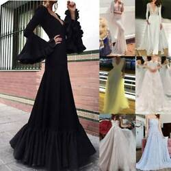 Womens Ladies Evening Party Cocktail Formal Prom Ball Gown Wedding Maxi Dress