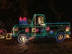 I Build Lighted Yard Art Pulling truck tractor race pro street Chevy ford dodge