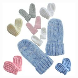 Baby Gloves Mittens Mitts Knitted Cable Knit Winter Warm Girl Boy Newborn Babies $5.99