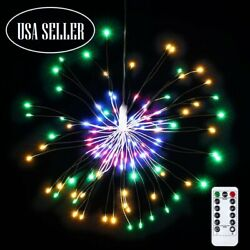 Hanging Firework LED Fairy String Light 8Modes Remote Christmas Party Xmas Decor $7.98