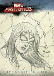 MARVEL: Masterpieces set 1 sketch card of AVENGERS SPIDER-WOMAN by NOAH SALONGA!