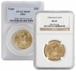 Lot of 2 - $25 12oz American Gold Eagle MS69 - PCGS or NGC (Random Date)
