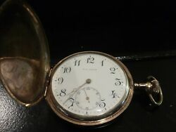 RARE ANTIQUE GEORGE A. DISQUE LONGINES POCKET WATCH HUNTING CASE. WORKS GREAT!