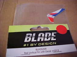 BLADE HELICOPTER PART BLH3520R = RED VERTICAL FIN W DECAL : mCP X RDS $3.00