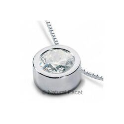 2.01 CTW E SI2 Round Cut Natural Certified Diamond White Gold Solitaire Pendant
