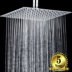 8  Inch Rain Shower Head with 11'' Adjustable Extension Arm High Pressure Chrome