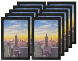 Frame Amo Black Wood Picture Frames or Poster Frames 1 inch Wide Smooth Wrap $49.95