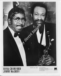 Orig promo photo jazz saxophonist HANK CRAWFORD & organist JIMMY McGRIFF 1980s
