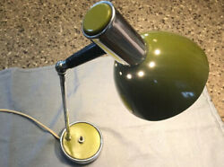 Desk Lamp Office Lamp Lamp Green Original Vintage 1970s Space Age Italy $59.99
