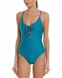 Red Carter 155336 Women's The Wave Lace Up One Piece Oasis Swimsuit Sz. 8